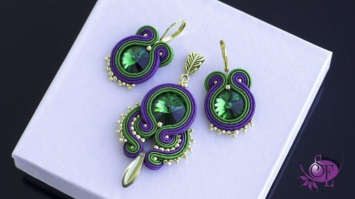 Zielono- fioletowy zestaw