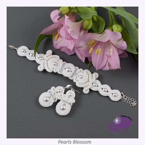 Komplet ślubny z perłami