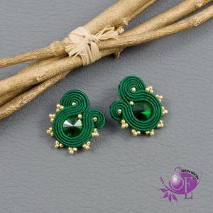 Zielone kolczyki sutasz