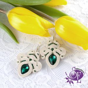 Emerald green - kolczyki ślubne